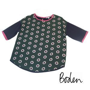 Boden Tops - Boden Short Sleeve Flower Top Size 6